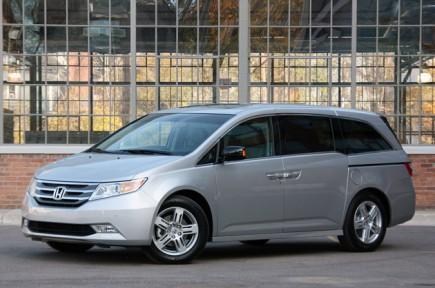 Серый Honda Odyssey 2011